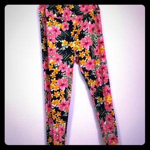 Lularoe Floral TC leggings Brand New